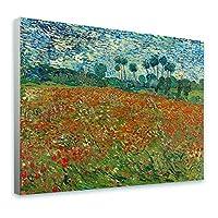 "Alonlineアート–ケシフィールドVincent van Gogh Framedのコットンキャンバスホーム装飾壁アート博物館品質フレームをハングアップする準備フレーム 21""x16"" - 54x41cm (Stretched Cotton Canvas) VF-VNG117-SCC0F01-1P1A-21-16"