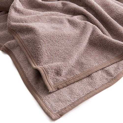 mofua natural タオルケット 杢 調 コットン 100% シングル ブラウン 55560106