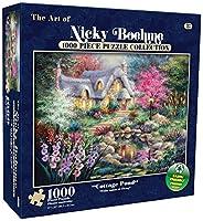 Karmin International Nicky Boehme Cottage池パズル( 1000-piece )