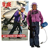 "Kenner Year 1997 G.I. JOE Classic Collection 12 Inch Tall Soldier Figure - NAVY AVIATION FUEL HANDLER aka ""Grapes"""