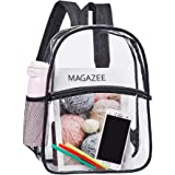 Heavy Duty Clear Backpack, Transparent PVC School Mini Backpacks, See Through Outdoor Bag for Security Travel, Sports Events
