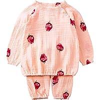 DXXCHUNG ベビー パジャマ 80 90 ルームウェア ガーゼ 夏 半袖 長袖 動物柄 上下セット 部屋着 新生児…