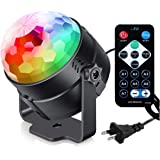 Party Lights with Remote Control Plug in Dj Lighting RBG Disco Ball Strobe Lamp 7 Modes Stage for Home Room Dance Parties Bir