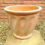 ベトナム鉢 大型 スパイラルポット (38cm) NC1366 ひねりが美しい植木鉢 ヨーロピアンなテラコッタ 植木鉢 おしゃれ 陶器鉢 素焼き鉢 園芸 ガーデニング