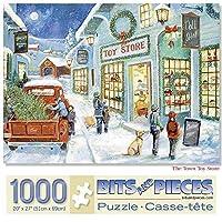 ビッグピース - 大人のための1000ピースジグソーパズル - 町のおもちゃの店 - 1000 PCのクリスマスツリー休日の冬のジグソーパズルルーアンマニング