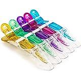 5pcs/set Multicolor Croc Clips Transparent Plastic Hairdresser Clips Hair Styling Sectioning Barrettes Non Slip Alligator Cli