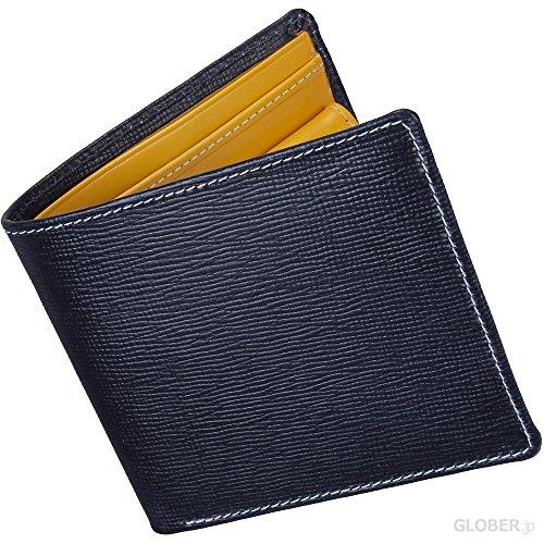 ホワイトハウスコックス(Whitehouse Cox) リージェントブライドル S7532 二つ折り財布 ネイビー・イエロー 【正規販売店】