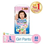 MamyPoko Air Fit Pants Girl, L, 44ct (Packaing may vary)
