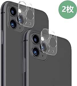 【2枚セット】iPhone 11 Pro/iPhone 11 Pro Max カメラフィルム3D全面保護フィルム 液晶強化ガラス 11 Pro / 11 Pro Max レンズ保護リング アルミニウム製 耐衝撃 高透過率 クリア画面 スクラッチ防止【5.8 / 6.5インチ用】