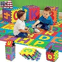 36個パズルキッズガールズ少年教育おもちゃアルファベットA - Z文字数字Foam Ma