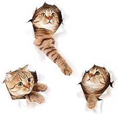 Fohil 3D かわいい猫 ウォールステッカー