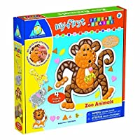 Orb Factory Foam My First Sticky Mosaics Kit Zoo Animals by Treasure Trove [並行輸入品]