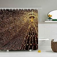 Christmas Tree Garland Light Decorationシャワーカーテン 防水 防カビ 加工 浴室 カーテン 風呂カーテン 防水 間仕切り 遮像 リング付属 厚手 取り付け簡単
