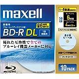maxell 録画用 BD-R 50GB 4倍速対応 書き楽レーベル(ノンプリンタブル) ブルー 10枚入 BR50VSKB.10S