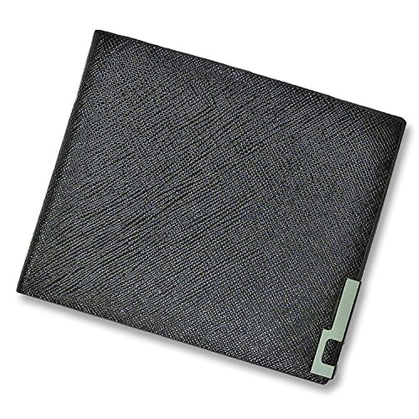 故障壁紙混乱した【F-grip】 二つ折り財布 レザー 革 財布 折りたたみ コンパクト ビジネス メンズ スリム