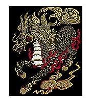 東洋ケース シール デコレーション (スマホ・ガラケー) 蒔絵シール 守護神獣絵巻 麒麟 SHINJU-05