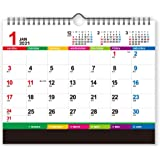 新日本カレンダー 2021年 カレンダー 卓上 カラーインデックス 2way 卓上両用 NK8546 21×25.7㎝