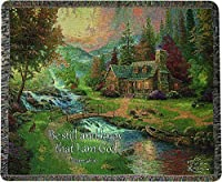 Manual Woodworkers & Weavers Tapestry Throw, Psalm 46:10, 50 x 60-Inch, Mountain Paradise Scripture [並行輸入品]