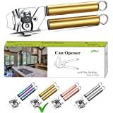 Berglander Can Opener, Stainless Steel Gold Handle Can Opener, Titainium Golden Plating Handle Can Opener, Smooth Edge Manual