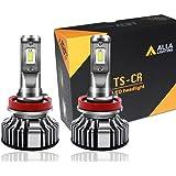 Alla Lighting 10000lm LED H11 Headlight Bulbs Extremely Super Bright TS-CR H8 H9 H11 LED Headlight Bulbs Conversion Kits H11