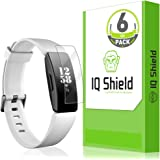 IQ Shield Screen Protector Compatible with Fitbit Inspire HR (Fitbit Inspire)(6-Pack)(Full Coverage) Anti-Bubble Clear Film