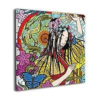 """Namiha 傘と扇風機 壁飾り インテリア アートパネル フレーム装飾画 壁画 版画 壁掛け ポスター インテリアボード 12""""x12"""""""