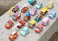 6 個プルバックカーのおもちゃモバイル機器ショップ建設車両消防車タクシーモデル赤ちゃんミニギフト子供おもちゃ