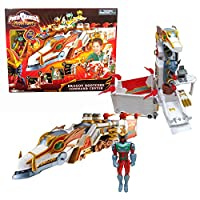 Bandai Year 2006 Power Rangers Mystic Force 18インチLong Vehicle Playset – Dragon Rootcoreコマンドセンターwith zipline、オープンコックピット、ミスティックライトand Missile Launcher PlusドラゴンFireレンジャー図