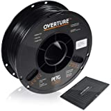 OVERTURE PETG Filament 1.75mm with 3D Build Surface 200 x 200 mm 3D Printer Consumables, 1kg Spool (2.2lbs), Dimensional Accu