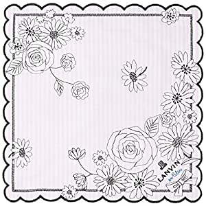 (ランバンオンブルー)LANVIN en Bleu ランバンオンブルー レディース 刺繍ハンカチ 17308001 A ピンク 25cm×25cm