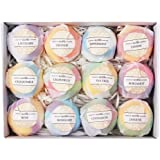 SODIAL Bath Bombs Gift Set - 12 Handmade Fizzies For Women - Perfect For Bubble & Spa Bath- Essential And Fragrance Oils For