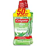 COLGATE Plax Mouthwash, 2x750ml, Fresh Tea, 750ml (Pack of 2)