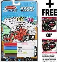 Adventure Coloring Pad: On-the-Go Series + FREE Melissa & Doug Scratch Art Mini-Pad Bundle (91299) [並行輸入品]