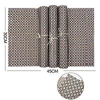 プレイスマット織物ビニールプレースマット用キッチンテーブル熱厚いパッド入りプレイスマット布 Pvc 断熱プレイスマット (4 本),E