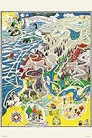 1000ピース ジグソーパズル ムーミン マップ オブ ムーミンバレー(50x75cm)
