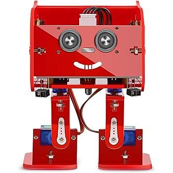ELEGOO Arduinoプロジェクト Penguin Bot リモコンロボットキット 説明書付 STEMおもちゃ (赤)