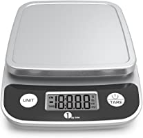 1byone Digital Kitchen Scale Precise Cooking Scale and Baking Scale, Multifunction with Range From 0.04oz (1g) to 11lbs,...