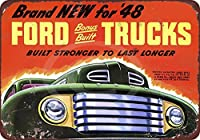 1948年新しいFord Trucks Built Strong Vintage Look Reproduction Sign 8x 12