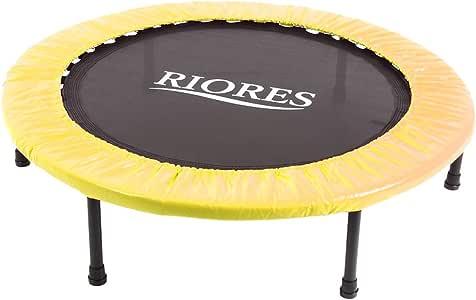 RIORES (リオレス) トランポリン 102cm 耐荷重110kg 折り畳み式 家庭用 大人用 子供用 (イエロー)
