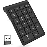 Wireless Number Pads, Numeric Keypad 22 Keys Portable 2.4 GHz Financial Accounting Number Keyboard Extensions for Laptop, PC,