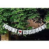 (JUST MARRIED) ガーランド?ブラウン ハートバルーン 結婚式 前撮り 二次会 パーティー 大活躍 ! ウエディング 小物 セット