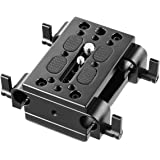 SMALLRIG Camera Mounting Plate Tripod Mounting Plate with 15mm Rod Clamp Railblock for Rod Support,DSLR Rig Cage - 1798