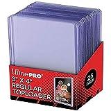 25 - Ultra Pro 3 X 4 Top Loader Card Holder for Baseball, Football, Basketball, Hockey, Golf, Single Sports Cards Top Loads -