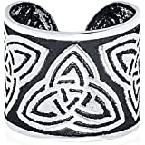 Unisex Boho Celtic Knot Triskele Bali Tribal Style Swirl Vine Wide Ear Cuff Earring Helix 1 Piece Non Pierced Cartilage Black