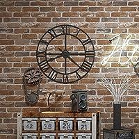 AkeaフラットFauxレンガストーン壁紙ロール3d効果ブロックヴィンテージホーム装飾 ブラウン