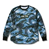 AKTR(アクター) バウンス カモ ロングスリーブ スポーツ Tシャツ (ブルー) - S