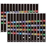 Koldot UkuleleFretboard Stickers ChordFret Stickers Note Sticker for Soprano, Concert & Tenor Ukulele Finger Guide for Ukul
