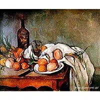 セザンヌ 「玉ねぎのある静物」 原画同縮尺近似(8号) (世界の名画PREHARDデジタグラフ)L-370ブラウン