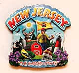 New Jersey State Montage Wood Fridge Magnet 2 by Souvenir Destiny