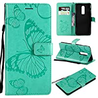 Phoebe, OnePlus 6 Case Wallet Leather, OnePlus 6 Case with Card Holder and Kickstand, OnePlus 6 Wallet Case with デザイン, デザイン Case Cover for OnePlus 6 Green